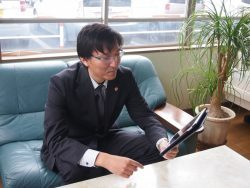 代表取締役社長写真
